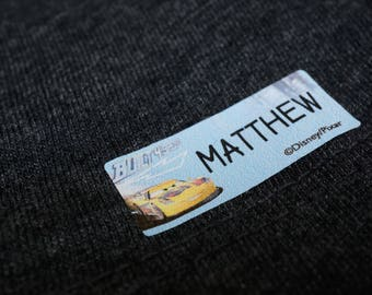 Iron on clothing Labels, fabric labels, custom iron on label, labels for clothing, garment labels, Fabric Iron-on Label, Car Label, MEDIUM