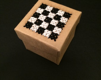 Cross Stitched Trinket Box