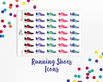 Running Shoes- Planner Stickers, Icons, Exercise, Tennis Shoes, Workout