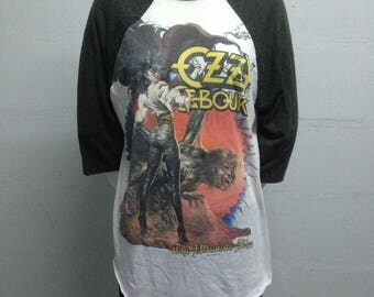 Offer !!! VINTAGE 1980s RARE !!! Ozzy Osbourne Made in USA T Shirt