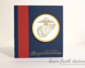 USMC Congratulations Stationery- Limited Edition United States Marine Corps Congratulations Greeting Card- have faith stationery