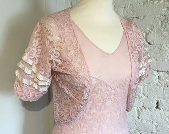 Vintage 1930s Lace Dress and Matching Bolero