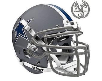 Cowboys helmet etsy - Dallas cowboys concept helmet ...