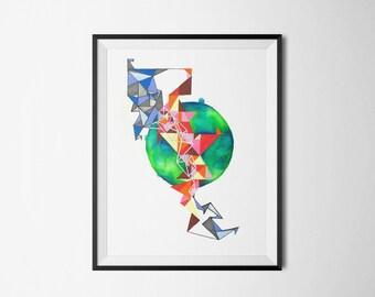 Abstract art -  Giclée Fine Art print - Wall Art