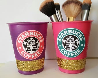 Set Of 2 Starbucks Cup Brush-Holder