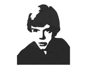 Luke Skywalker Embroidery Design - 6 SIZES