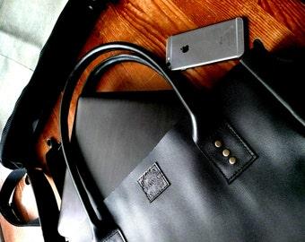 Tote Bag, Shoulder Bag, Genuine Leather Bag, Black Bag