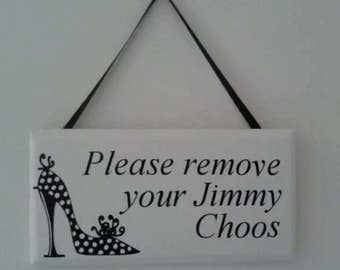 Shoe Sign Wood Plaque