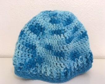 Turquoise cotton hat
