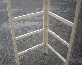 Handmade wooden clothes airer / clothes horse rack