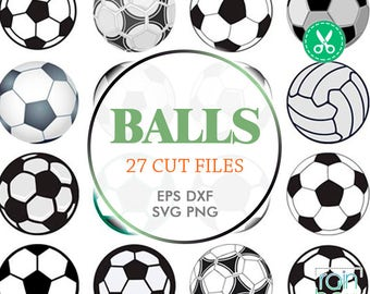 Soccer Ball Svg, Ball Svg, Soccer Svg Files, Soccer Clipart, Soccer Decal, Sports Svg Files, Sports Balls Svg, Svg Files For Silhouette