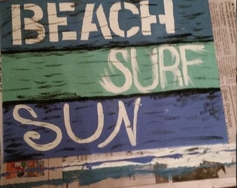 Beach Sun Surf Canvas