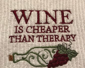 Embroidered Wine Towel.
