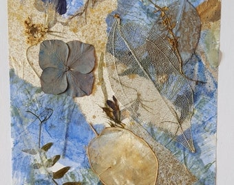 """Greeting Card. Art Collage. """"Summer Blues"""""""