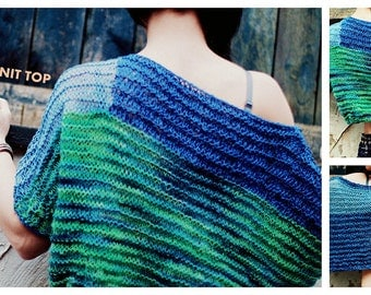 """Loose knit top """"waves"""""""