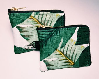 Banana Leaf Zipper Pouch