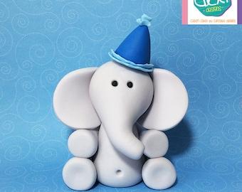 Edible Fondant Baby Elephant Cake Topper