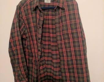 Vintage men's large ll bean flannel