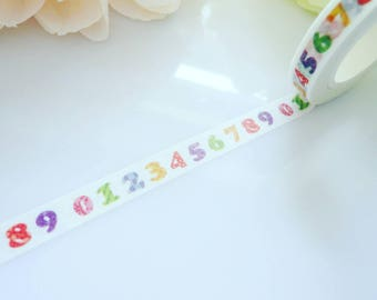 Numbers Dates Washi Tape Stationery Masking Calender Deco Tape
