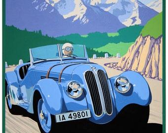 BMW 328 1938 Classic Car Print