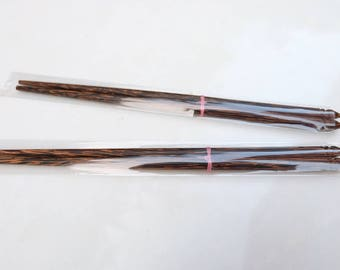 Handmade Palm wooden chopsticks set of two pairs