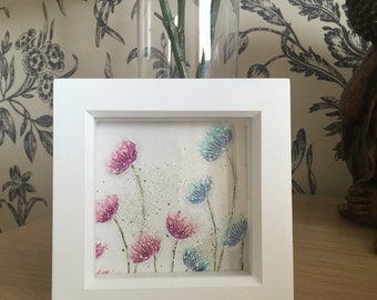 Hand crafted flower picture