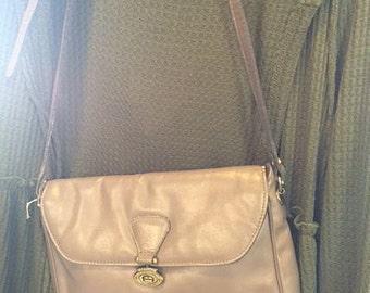 Vintage Aigner purse gray