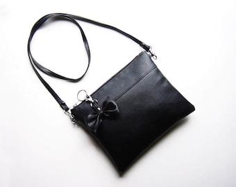 Bag handbag purse shoulder bag clutch black loop