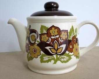 Vintage Teapot, Vintage Sadler Teapot, Sadler Teapot Made in England, Retro Sadler Teapot, Retro Floral Teapot - V204