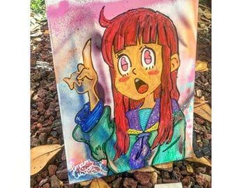 "Custom hand painted ""Hol Up"" Canvas"