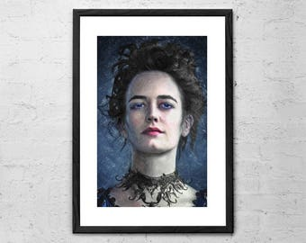 Vanessa Ives - Penny Dreadful - Painting - Eva Green - Victorian Prints - Horror Movie Poster - Penny Dreadful Print - Penny Dreadful Poster