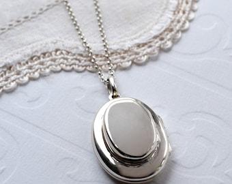 Sterling Silver Double Oval Locket