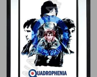 Quadrophenia . vespa. mod . A3 Print , lambretta . Art . Poster vespa
