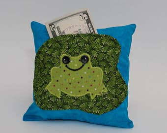 Frog Tooth Fairy Pillow