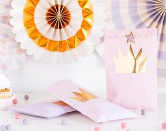 Princess Party Treat Bags/ Princess Crown Favor Bags/ Princess Party Favors