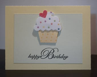 Happy Birthday Card, Pastel Yellow and Green