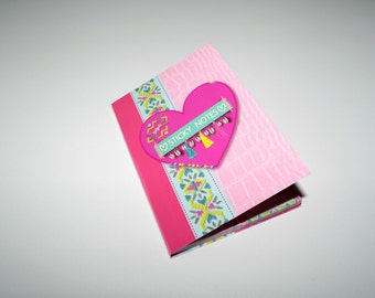 Sticky notes in a book