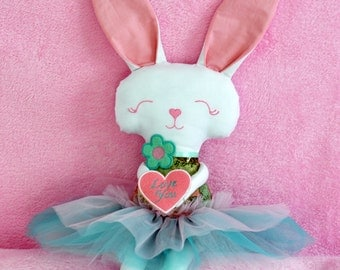 Bunny. Bunny for Valentine's Day. ITH Bunny. Cute soft Bunny. Bunny in skirt.