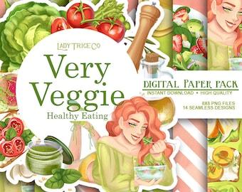Very Veggie Digital Paper Pack