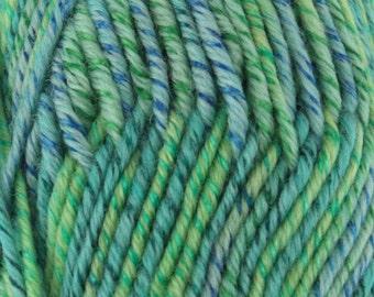 Chunky Melody Atlantis Aqua Blue Green Wool Blend Yarn Bulky 100g/skein