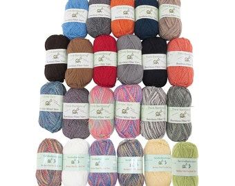 Soft and Slim Bamboo Wool Yarn - 2 x 50g/skein