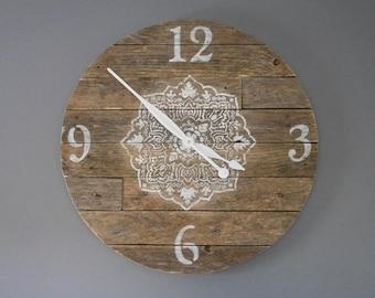 Beautiful 22'' wooden wall clock