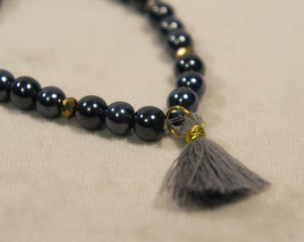 Genuine Hematite Bracelet Semi Precious Stone Gemstone Healing Crystal Chakra Metaphysical Gift