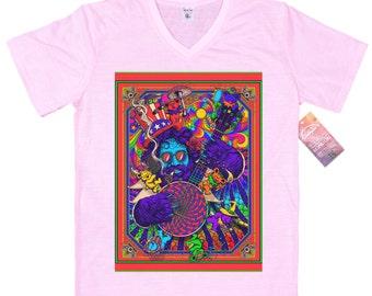 Jerry Garcia T shirt, artwork by rosenfeldtown