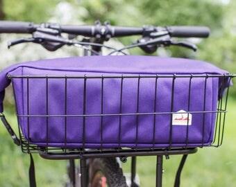Bicycle Rack or Basket Bag - Purple
