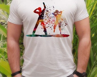 Party people t-shirt - Dance tee - Fashion men's apparel - Colorful printed tee - Gift Idea