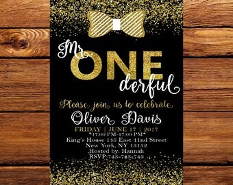 Mr. Onederful Invitation,  Onederful Birthday Party, First Birthday invite,  Little Man Invitation,  First Birthday Invitation 162