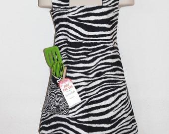 Child's Apron in Zebra Pattern