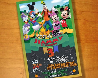 Mickey Mouse Birthday invitations, Mickey Mouse Birthday, Mickey Mouse Invitations, Mickey Mouse Party, Mickey Mouse Club House, Printable