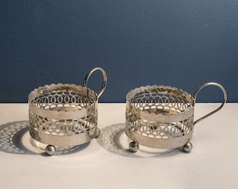 Russian Tea holders, Silver-plated